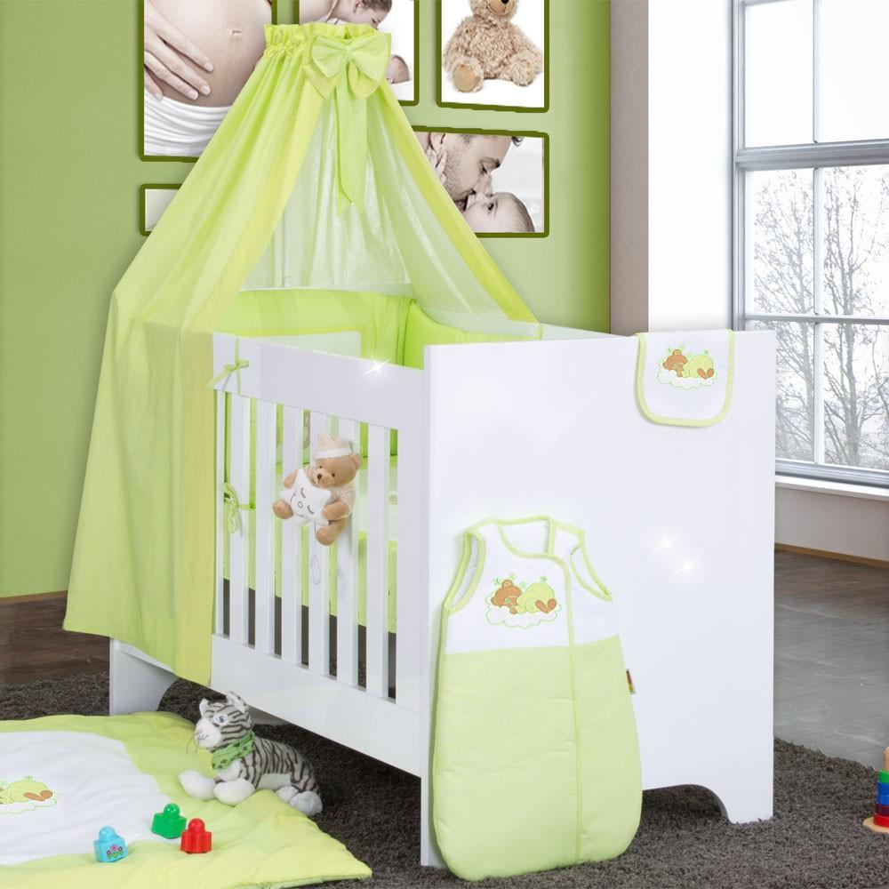 bettset baby bettw sche himmel nestchen schleife mit stickerei 100x135 neu ebay. Black Bedroom Furniture Sets. Home Design Ideas