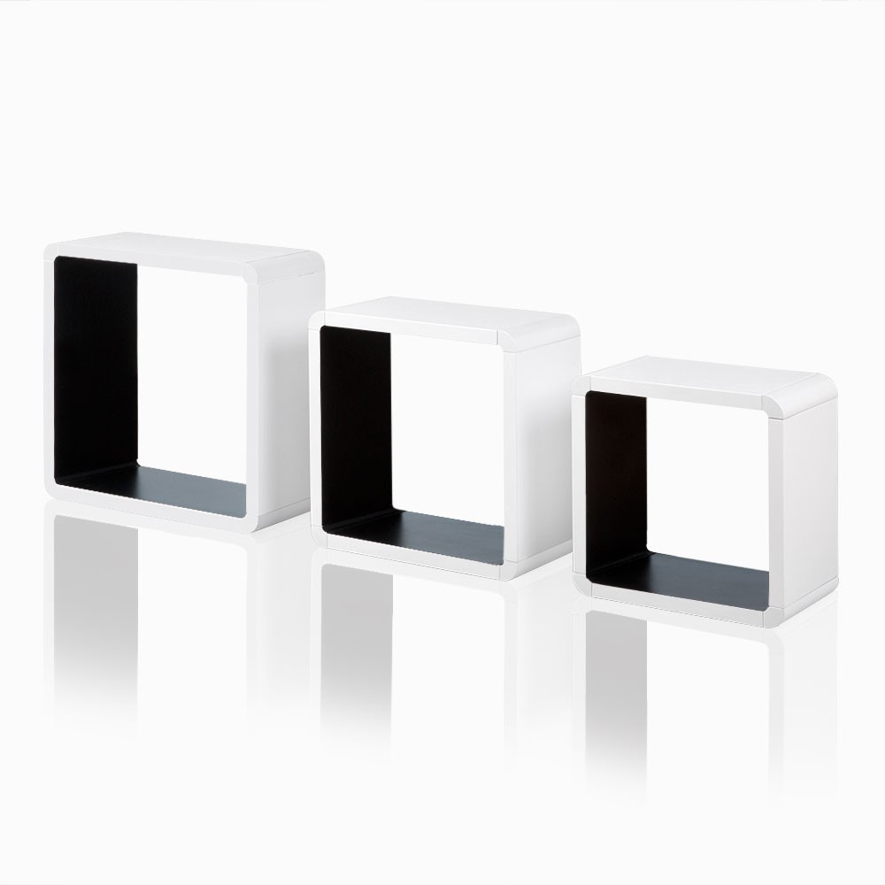 wandregal 3 teilig h ngeregal regal w rfel cube. Black Bedroom Furniture Sets. Home Design Ideas