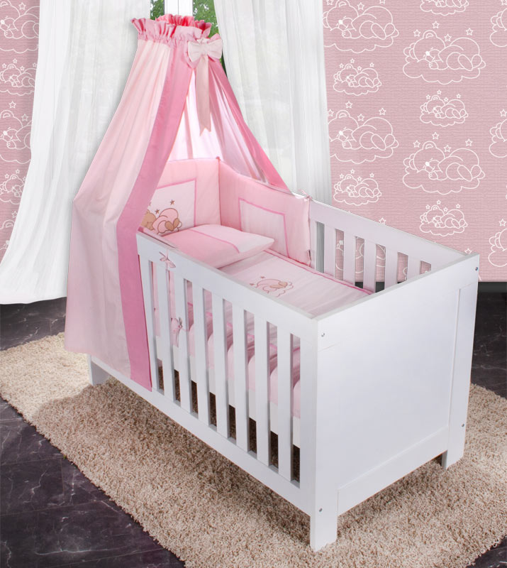 15 teiliges bettset sleeping bear prestij joy prinz oder prinzessin baby m bel. Black Bedroom Furniture Sets. Home Design Ideas