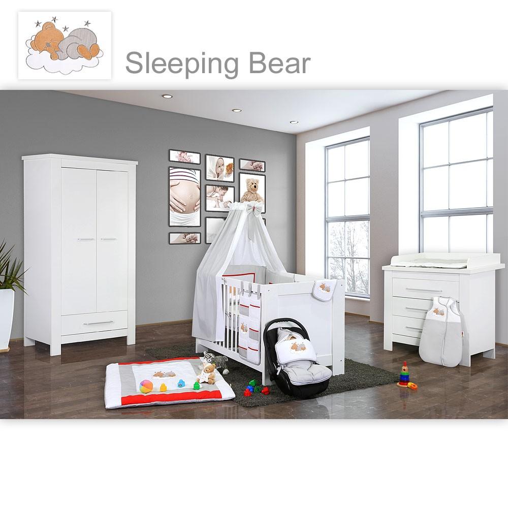 babyzimmer 19 tlg kinderzimmer komplett babybett incl. 15 tlg