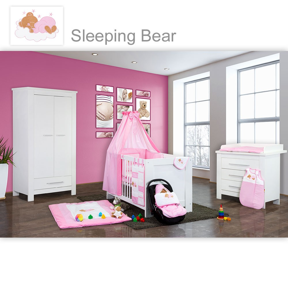 babyzimmer kinderzimmer enni matt oder hochglanz mit 2 oder 3 schrank ebay. Black Bedroom Furniture Sets. Home Design Ideas