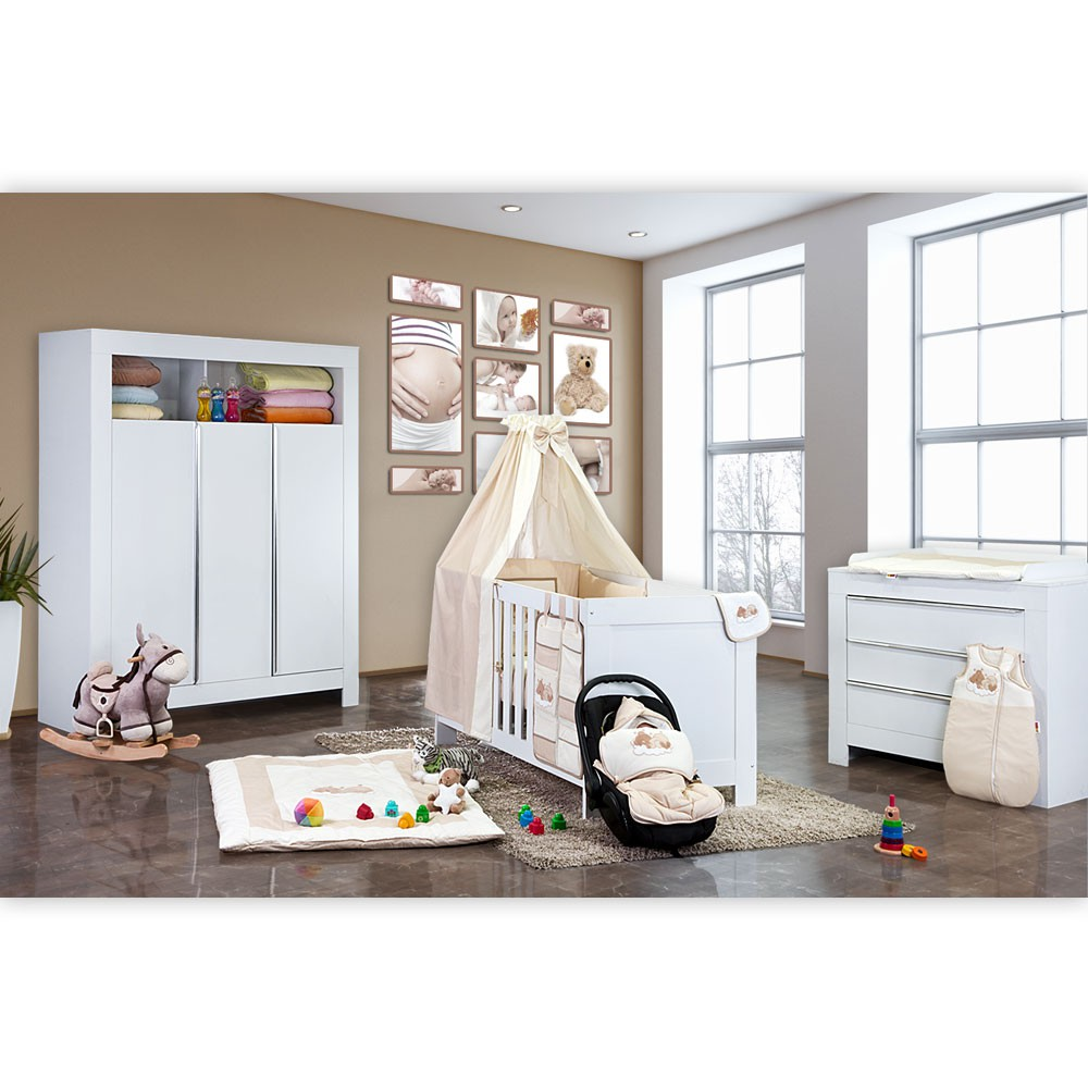babyzimmer kinderzimmer felix in wei oder akaziengrau mit. Black Bedroom Furniture Sets. Home Design Ideas