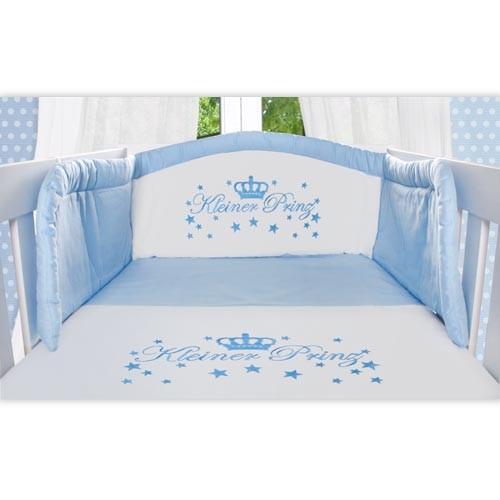 baby bettw sche set 2 tlg kleiner prinz ebay. Black Bedroom Furniture Sets. Home Design Ideas