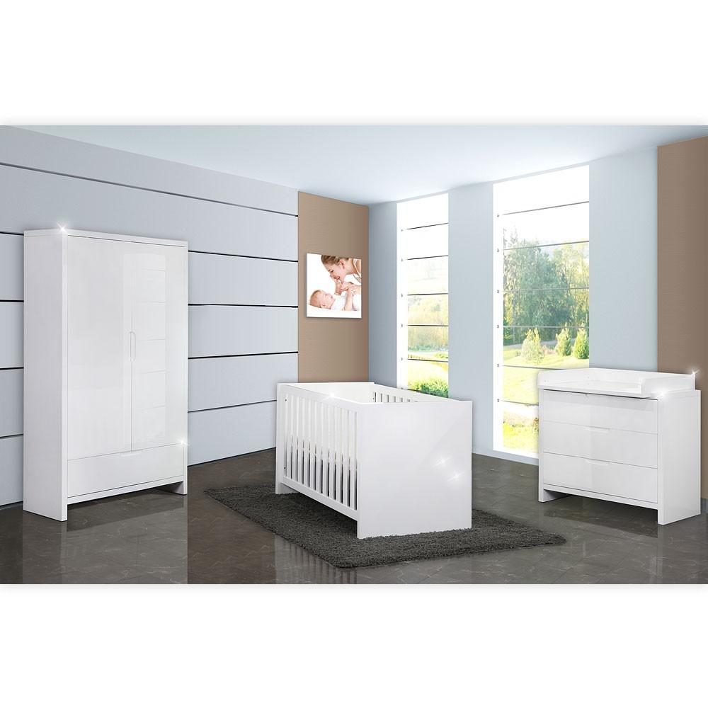 babyzimmer 5 tlg luiy in hochglanz mit 2 t rigem kleiderschrank duisburg. Black Bedroom Furniture Sets. Home Design Ideas