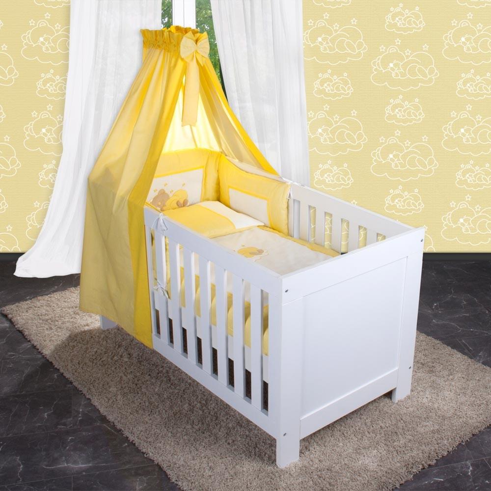 9 babybetten kinderbetten 70x140 zur auswahl mit oder 5 tlg bettset zur auswahl ebay. Black Bedroom Furniture Sets. Home Design Ideas