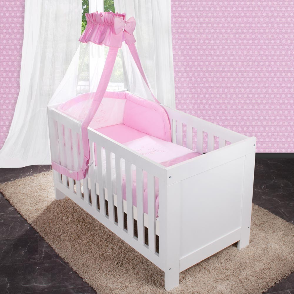 baby bettw sche set 2 tlg kleine prinzessin ebay. Black Bedroom Furniture Sets. Home Design Ideas