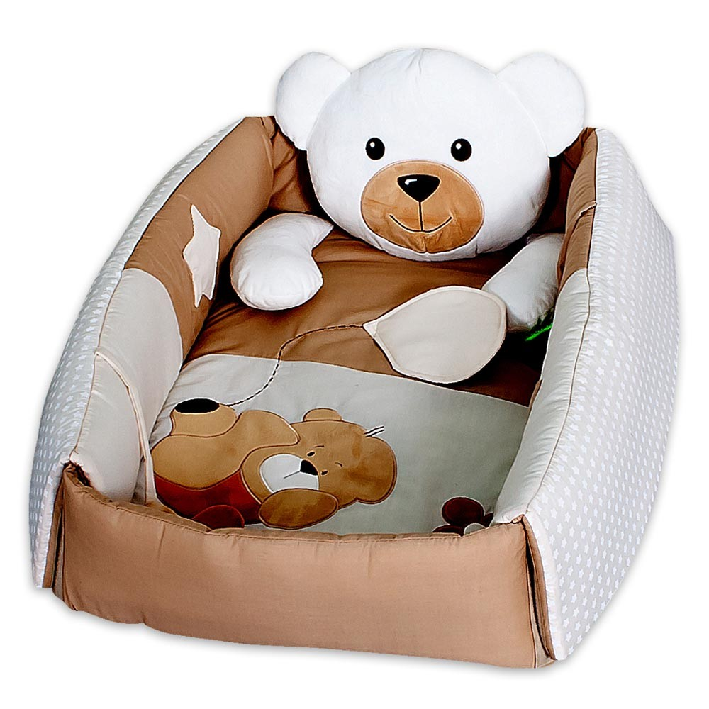 spielbogen 3 in 1 sleeping bear erlebnisdecke baby nestchen ebay. Black Bedroom Furniture Sets. Home Design Ideas