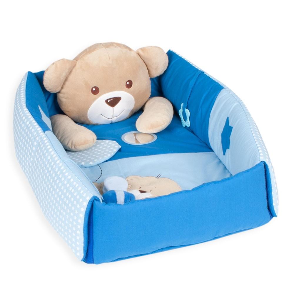 Spielbogen-3-in-1-Sleeping-Bear-Erlebnisdecke-Baby-Nestchen