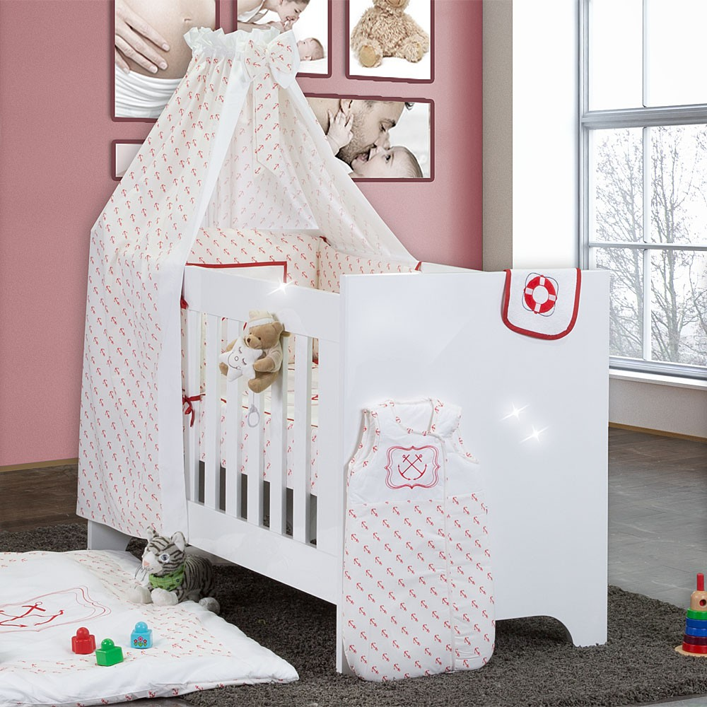 bettset baby bettw sche himmel nestchen schleife mit stickerei 100x135 neu ebay. Black Bedroom Furniture Sets. Home Design Ideas