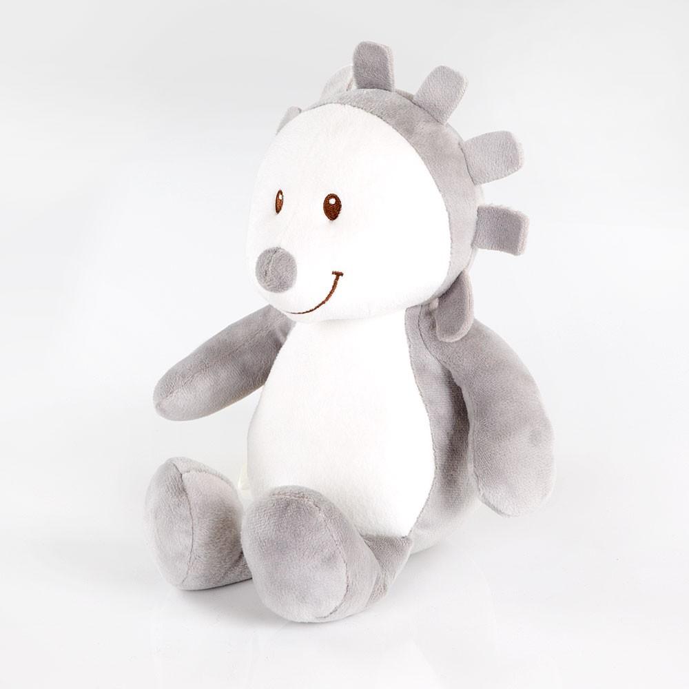 Spieluhr Igel Grau Weiss
