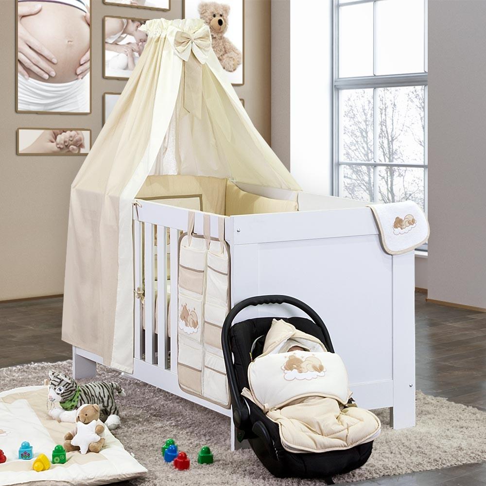 baby bettset 5 tlg sleeping bear baby m bel babybettausstattung bettsets. Black Bedroom Furniture Sets. Home Design Ideas