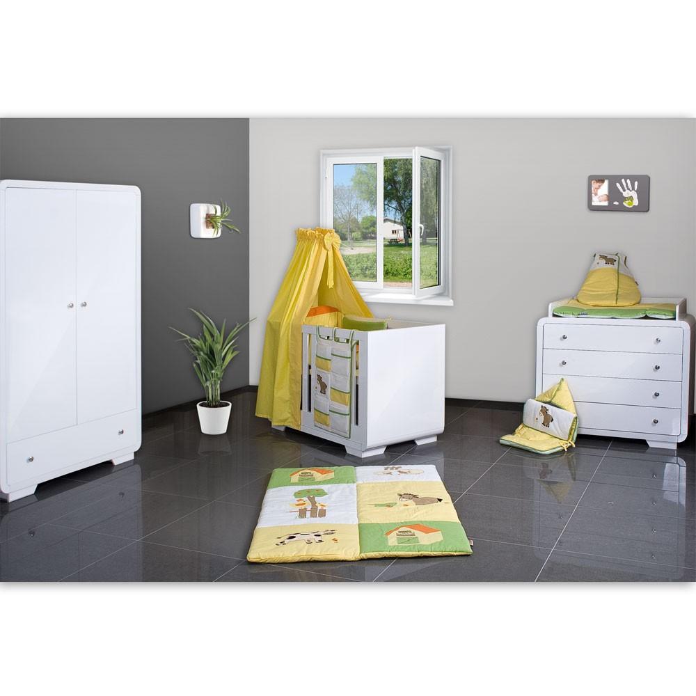 21 tlg babyzimmer yves mit 2 t rigem schrank kl bett in luxus prestij gelb baby moebel - Babyzimmer gelb ...