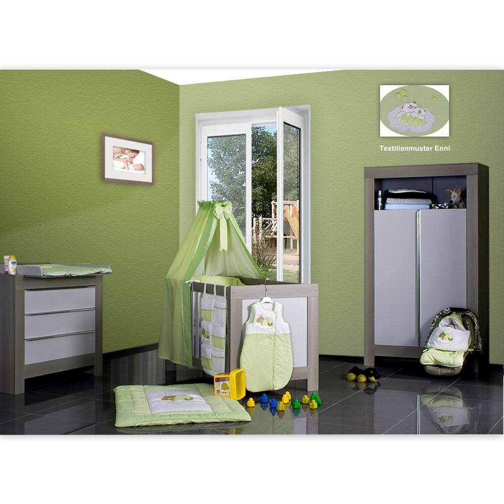 babyzimmer felix in akaziengrau 10 tlg mit 2 t rigem kl. Black Bedroom Furniture Sets. Home Design Ideas