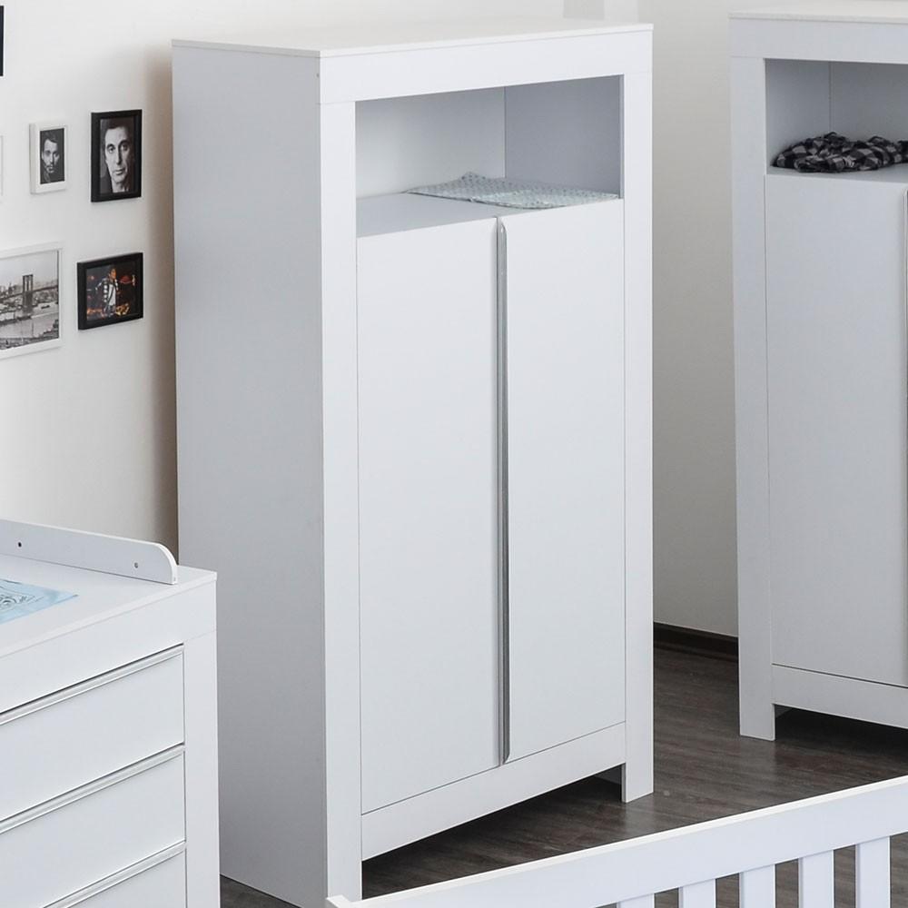kleiderschrank 2 t rig felix in reinem wei baby m bel kleiderschr nke. Black Bedroom Furniture Sets. Home Design Ideas