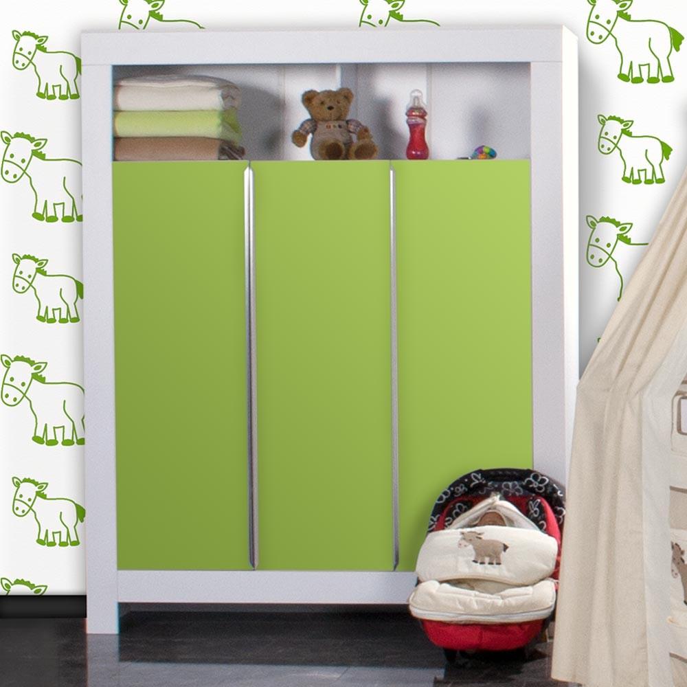 babyzimmer felix in weiss gr n mit 3 t rigem kl 19 tlg prestij beige baby m bel babyzimmer. Black Bedroom Furniture Sets. Home Design Ideas