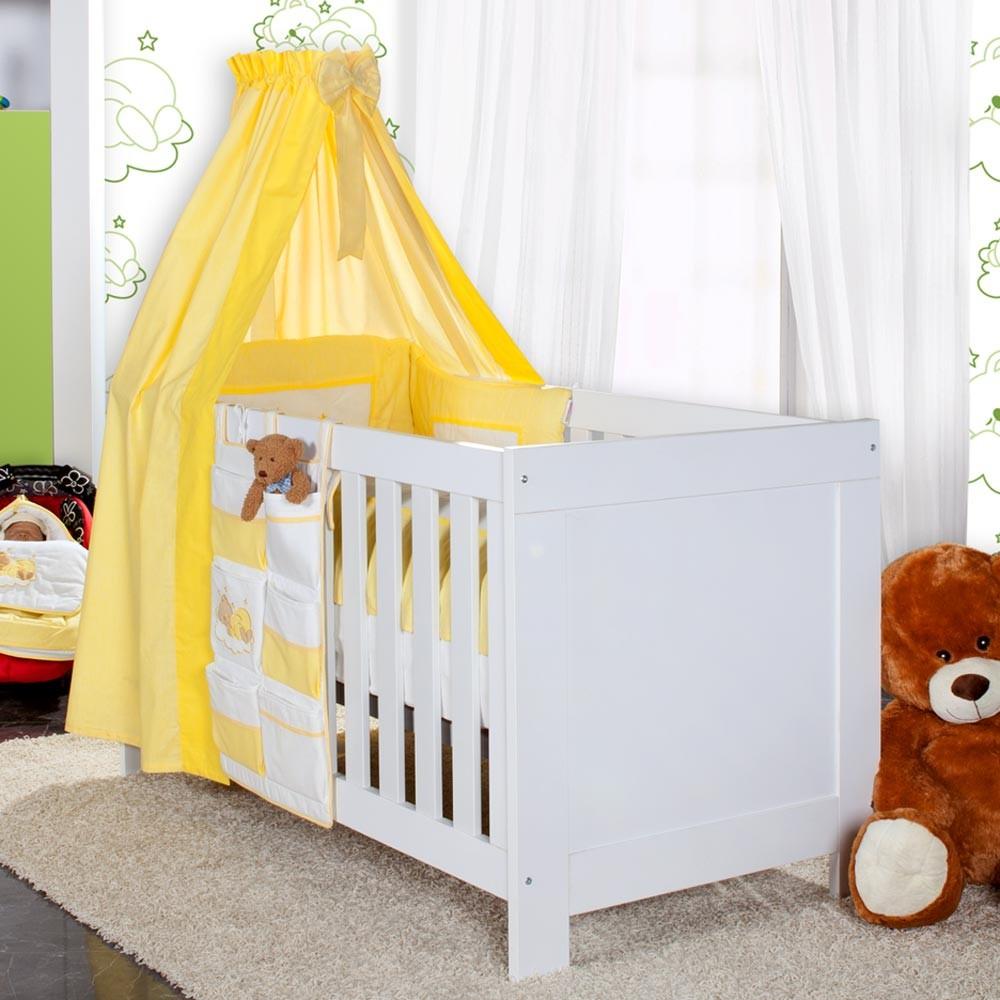Babyzimmer felix in weiss gr n mit 3 t rigem kl 19 tlg sleeping bear gelb baby m bel - Babyzimmer gelb ...