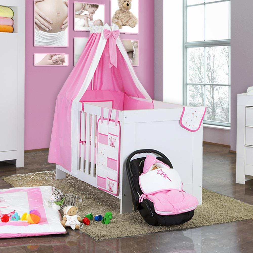5 tlg babybettset zauber fee in rosa baby m bel babybettausstattung bettsets. Black Bedroom Furniture Sets. Home Design Ideas