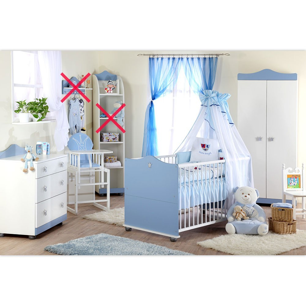 babyzimmer kleiner prinz schrank kommode bett und. Black Bedroom Furniture Sets. Home Design Ideas